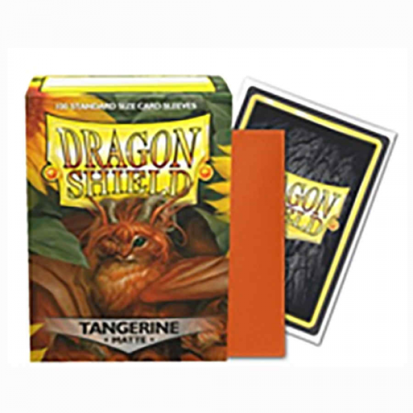 Dragon Shields: Matte Tangerine Sleeves (100)