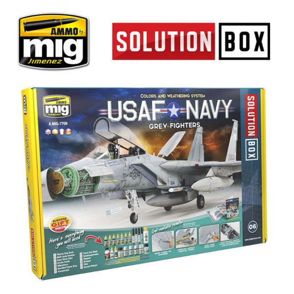 AMMO: USAF Navy Grey Fighters Solution Box