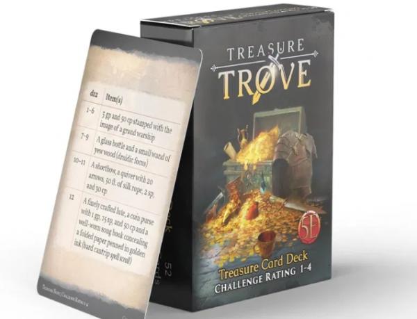 RPG Accessory: Treasure Trove CR 1-4 Deck (5E)