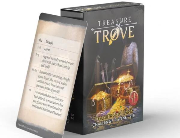 RPG Accessory: Treasure Trove CR 5-8 Deck (5E)