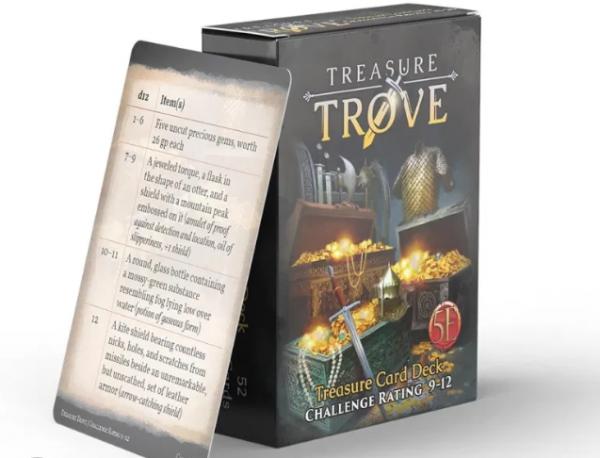 RPG Accessory: Treasure Trove CR 9-12 Deck (5E)