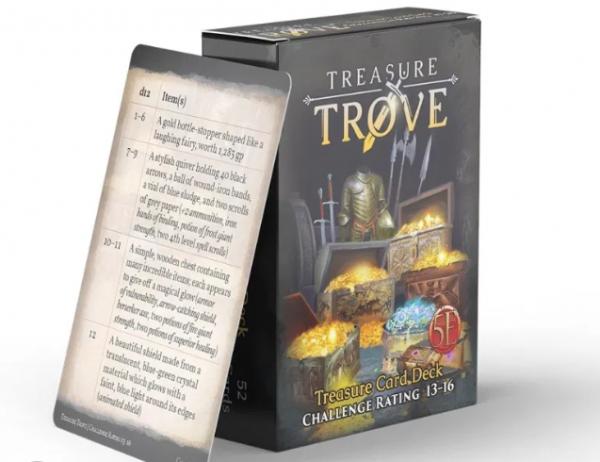 RPG Accessory: Treasure Trove CR 13-16 Deck (5E)