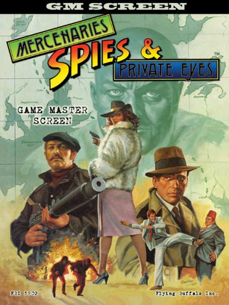 Mercenaries Spies & Private Eyes RPG: GM Screen