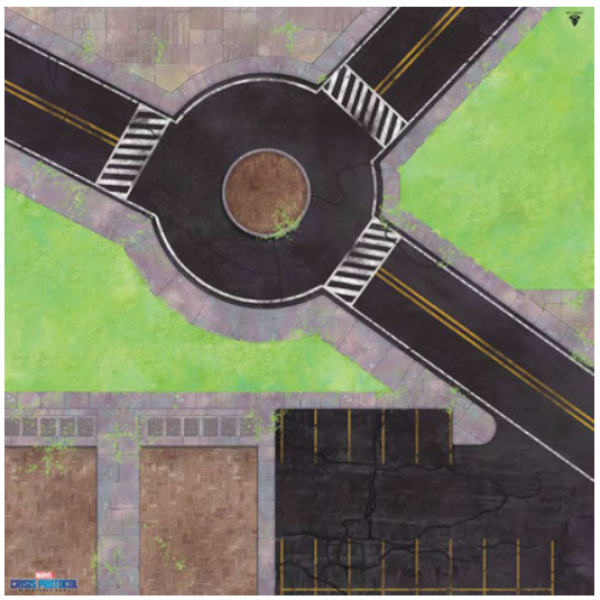 Marvel Crisis Protocol: Roundabout Knockout Game Mat