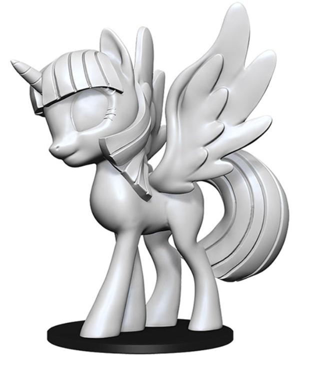 WizKids Deep Cuts Unpainted Miniatures: My Little Pony - Twilight Sparkle