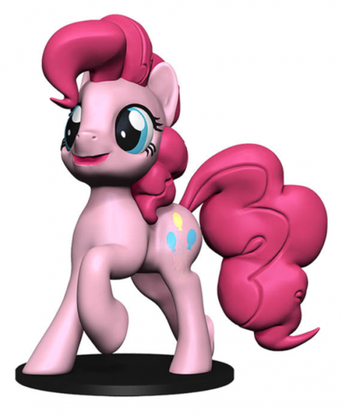WizKids Deep Cuts Unpainted Miniatures: My Little Pony - Pinkie Pie