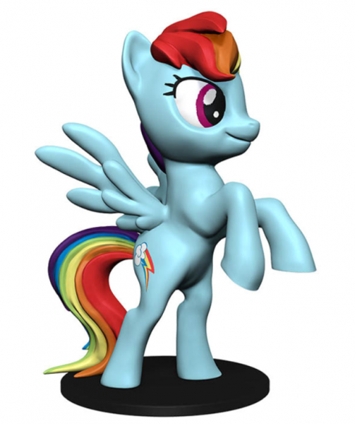 WizKids Deep Cuts Unpainted Miniatures: My Little Pony - Rainbow Dash