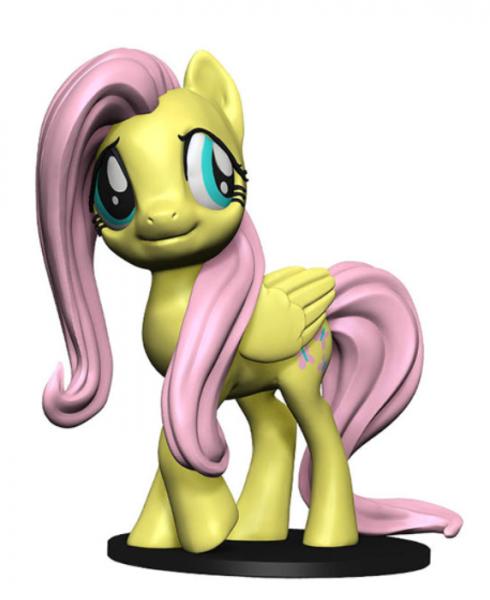 WizKids Deep Cuts Unpainted Miniatures: My Little Pony - Fluttershy