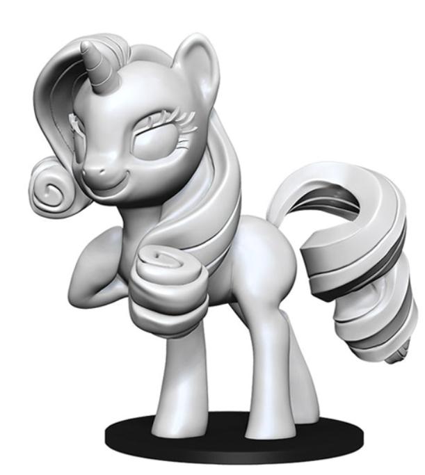 WizKids Deep Cuts Unpainted Miniatures: My Little Pony - Rarity