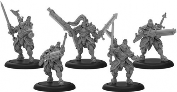 Warmachine: Order of Illumination Resolutes – Mercenary Morrowan Unit (5) (metal)