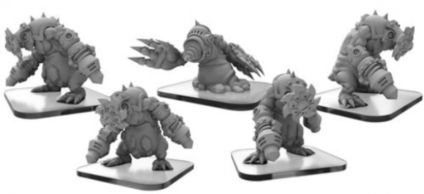 Monsterpocalypse: Mollock Brutes & Mollock Berserker – Monsterpocalypse Subterran Unit (metal)