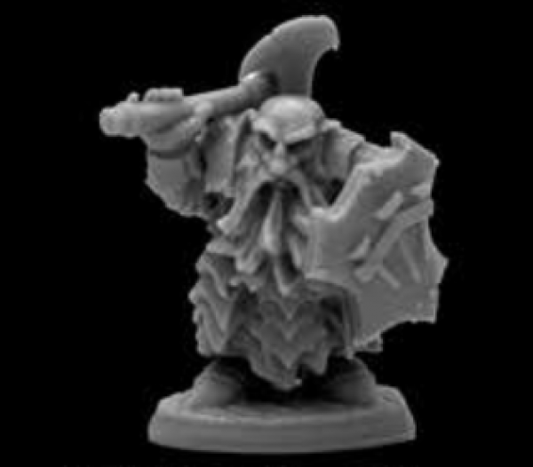 Reaper Bones Black: Dark Dwarf Cleaver