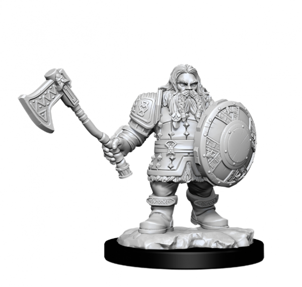 D&D Nolzurs Marvelous Unpainted Minis: Wave 11- Male Dwarf Fighter