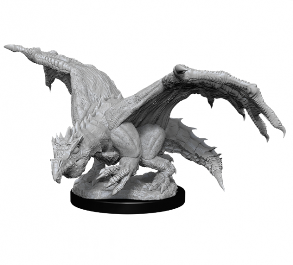 D&D Nolzurs Marvelous Unpainted Minis: Wave 11 - Green Dragon Wyrmling & Afflicted Elf