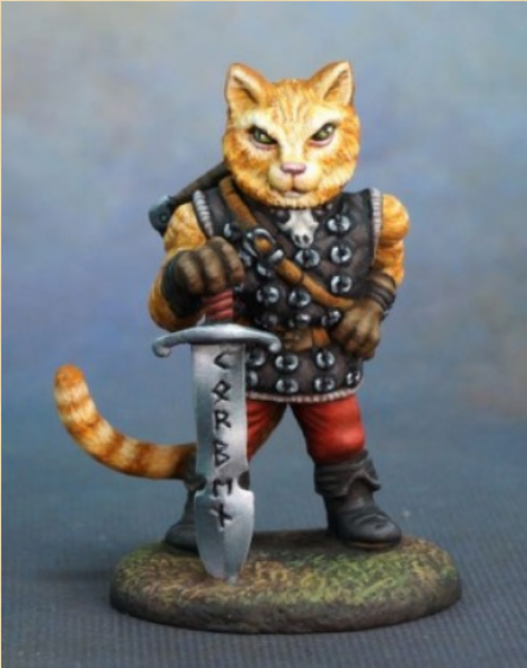 Critter Kingdoms: Korben - Large Cat Warrior with Sword