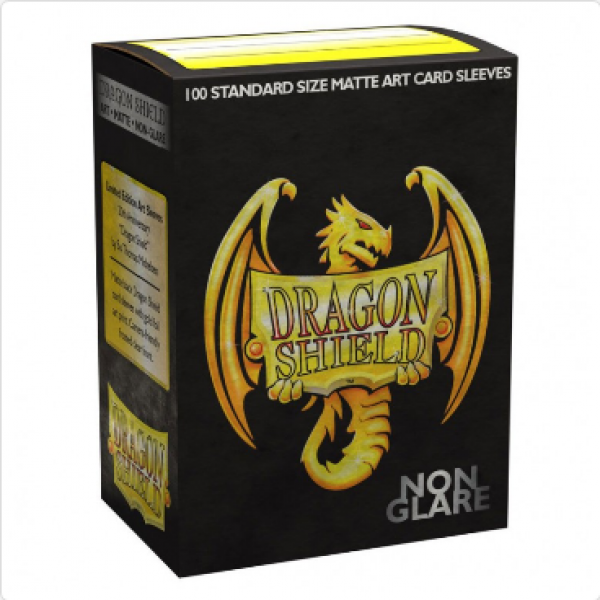 Dragon Shield Art Sleeves: Standard - Matte Gold Foil Dragon Shield #1 Art (Lim. Ed.) (100 ct.)