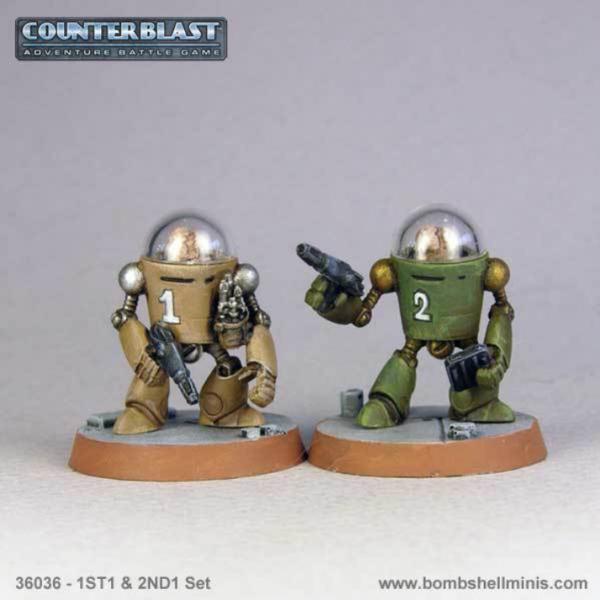 Bombshell Miniatures: 1ST1 & 2ND1 Set
