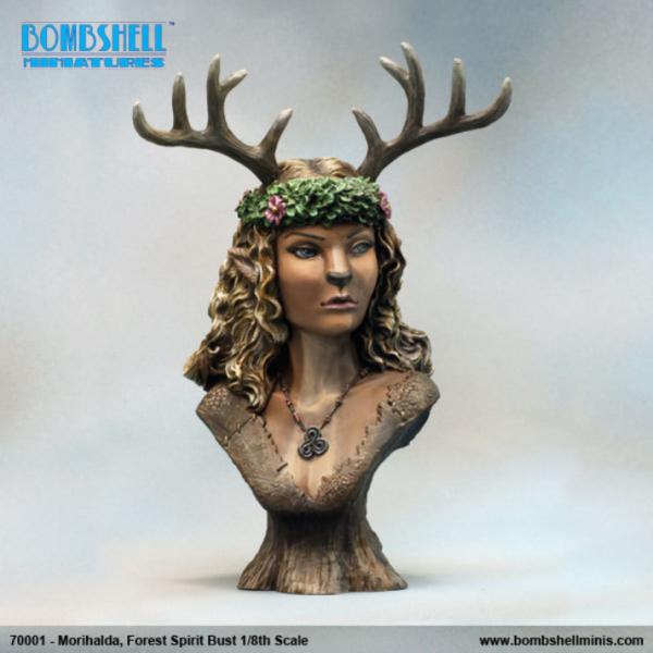 Bombshell Miniatures: Mini Bust - Morihalda Forest Spirit