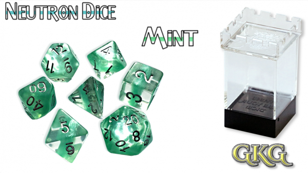 Neutron Dice: Mint Dice Set