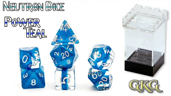 Neutron Dice: Power Teal Dice Set