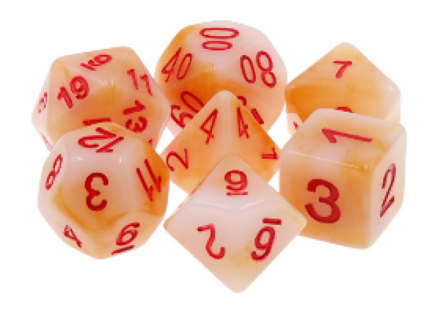 Dargon's Dice: Scarab's Blood Dice Set 16mm (7)