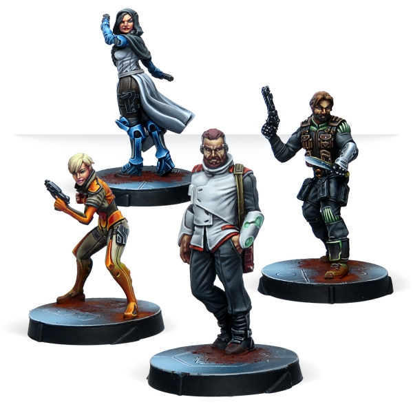 Infinity (#810): Civilians - Agents of the Human Sphere RPG Characters Set