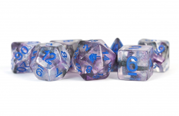 Metallic Dice: Unicorn RESIN Polyhedral Dice Set - Stellar Storm (7)