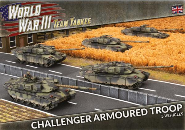 Team Yankee: (British) Challenger Armoured Troop (x5 Plastic)