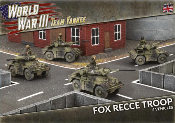 Team Yankee: (British) Fox Recce Troop (x4 Plastic)