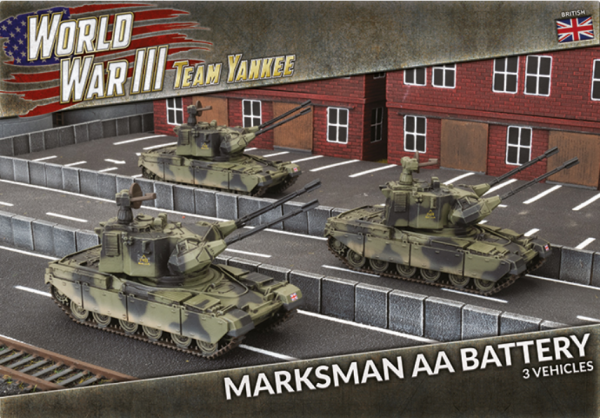 Team Yankee: (British) Chieftain Marksman AA Battery (x3)