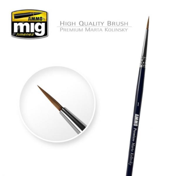 AMMO: 1/0 Premium Marta Kolinsky Round Brush