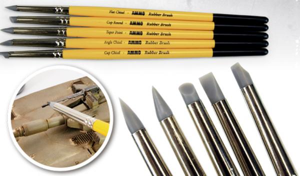 AMMO: Rubber Brush Set