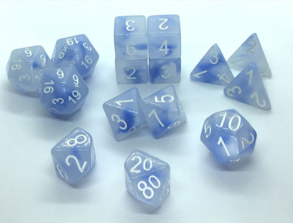 Polyhedral Dice Set: Set of 15 Polyhedral Dice - Siren's Song