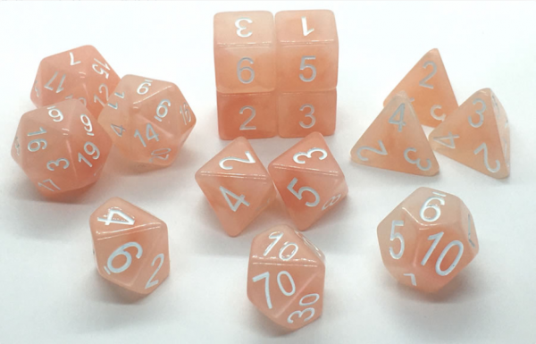 Polyhedral Dice Set: Set of 15 Polyhedral Dice - Pixie Wings