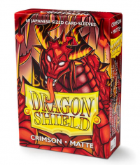 Dragon Shields: Matte Crimson  Japanese 'Elohaen' (60ct.)