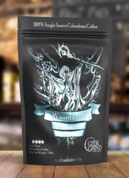 Geek Grind Coffee: Wizard's Mist - Blend of Ages - Whole Bean - 12oz