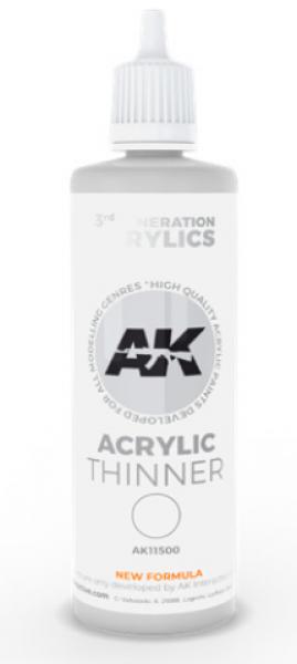 AK-Interactive: (3rd Gen) ACRYLIC THINNER (100ml)