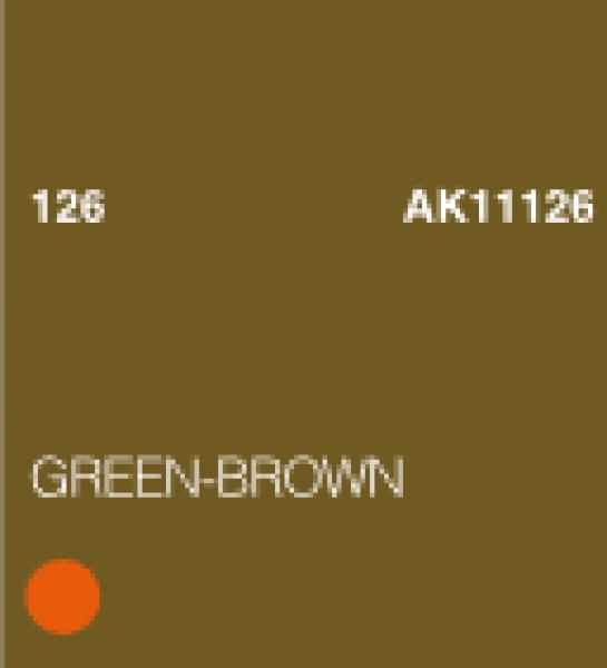 AK-Interactive: (3rd Gen) Acrylic - Green Brown (17ml)