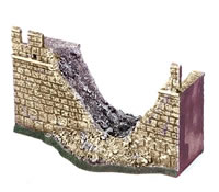25mm European Buildings: Destroyed Wall