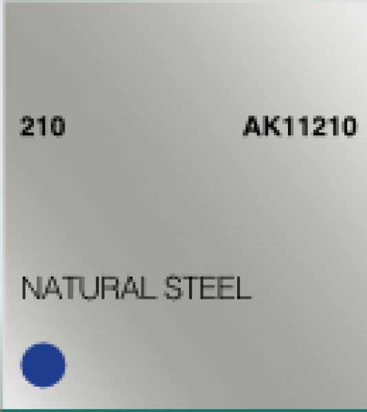 AK-Interactive: (3rd Gen) Acrylic - Natural Steel (17ml)