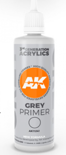 AK-Interactive: (3rd Gen) Grey Primer (100 ml)