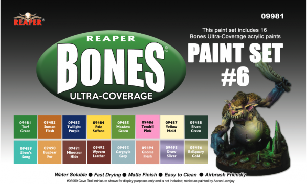Reaper Master Series: Bones Ultra-Coverage Set #6