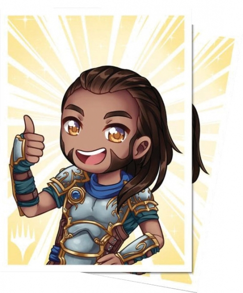 Magic The Gathering: Planeswalker Chibi Deck Protector Sleeves - Gideon Good Job (100)