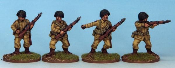 Crusader Miniatures: US Airborne Riflemen I (4)