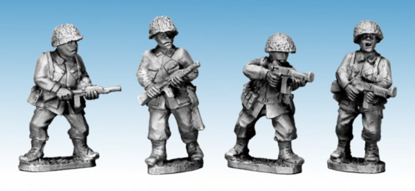Crusader Miniatures: US Airborne with SMG & Carbines (4)