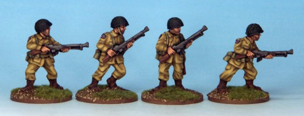 Crusader Miniatures: US Airborne with BARs (4)