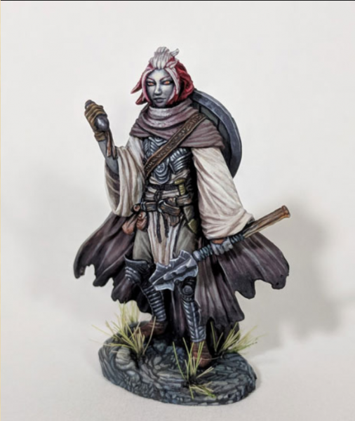 Visions In Fantasy: Female Cleric with Mace