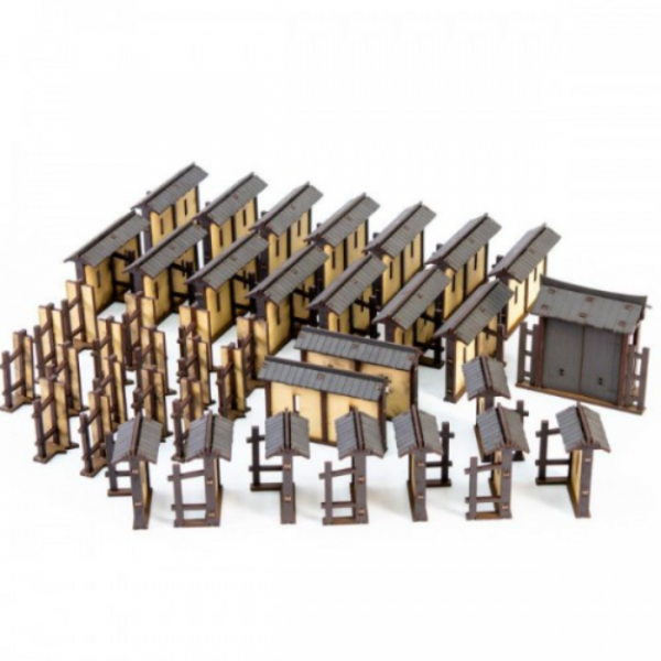 28mm Yamashiro Fort: Wall & Gate Set