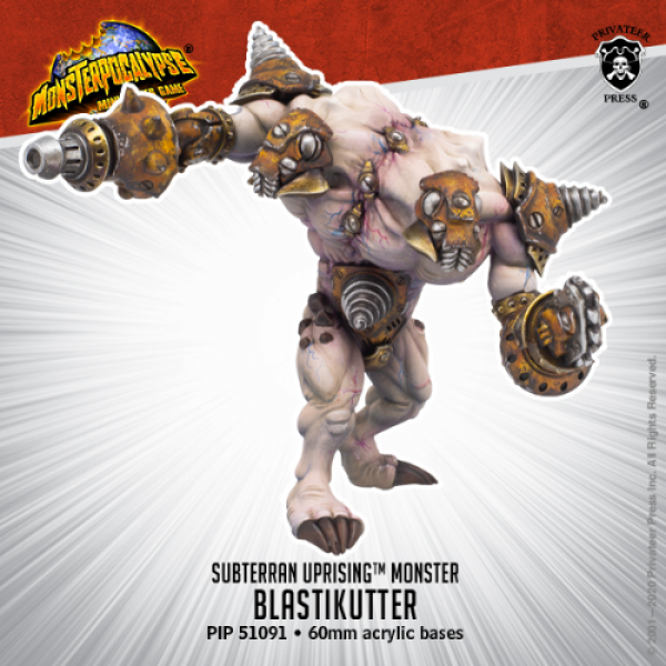 Monsterpocalypse: Blastikutter – Monsterpocalypse Subterran Uprising Monster (metal/resin)