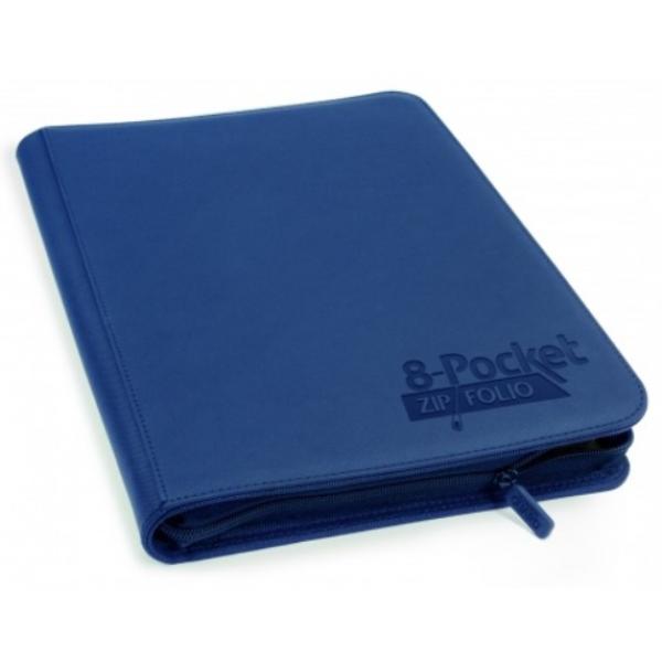 Portfolio: 8-Pocket QuadRow ZipFolio XenoSkin - Dark Blue